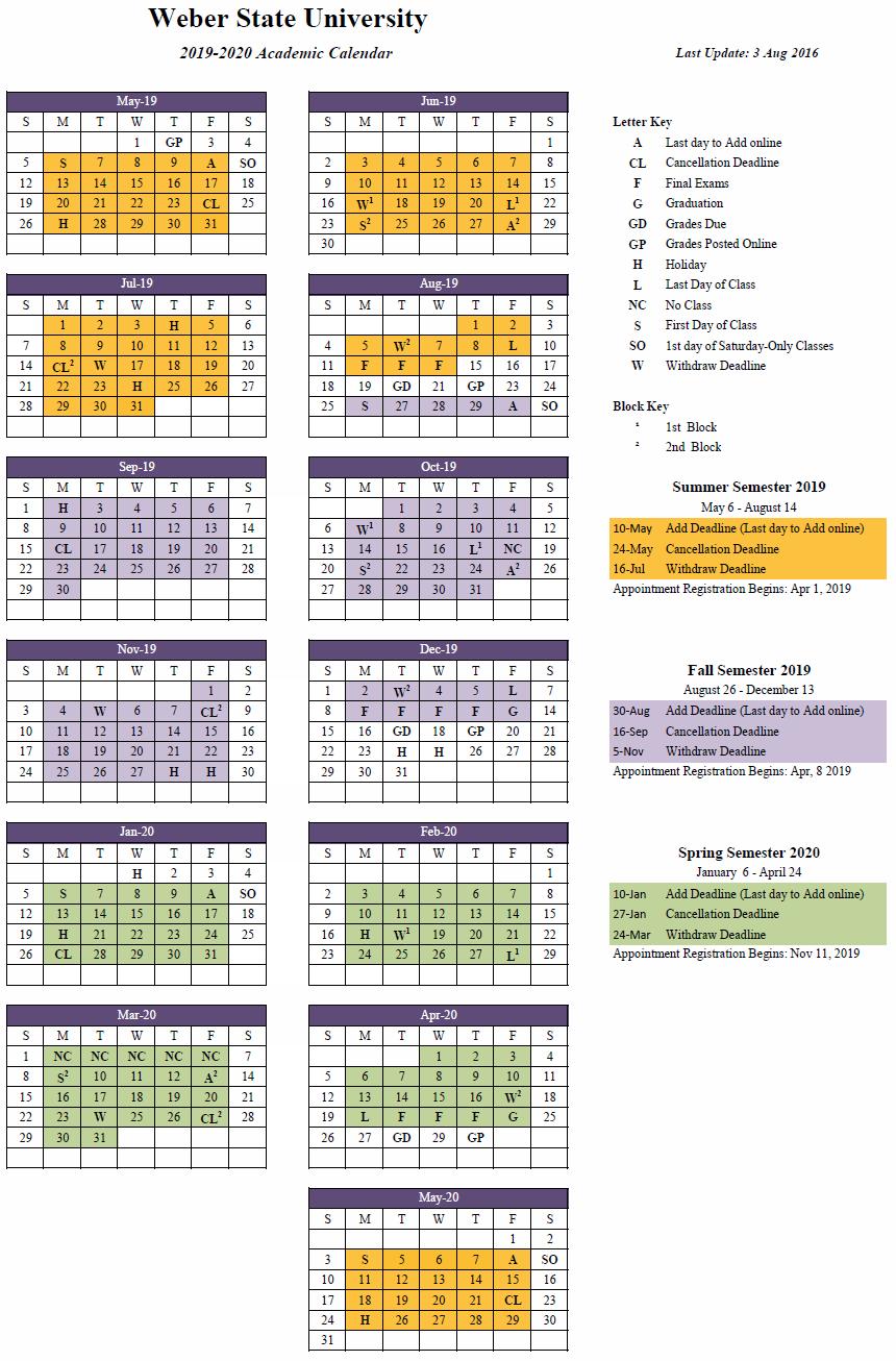 2019-2020 (Approved) regarding U Of M School Year 2019-2020