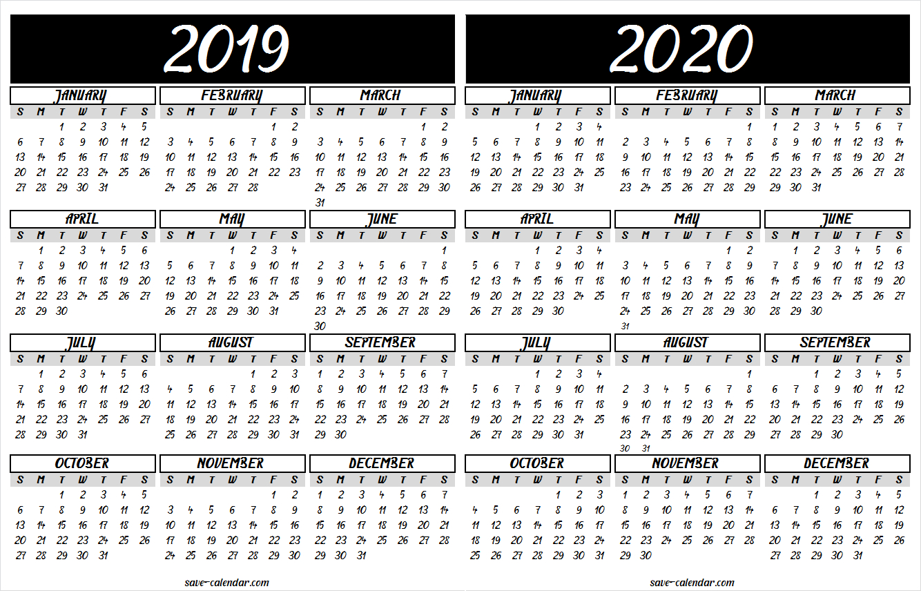 2019 2020 Calendar Printable | 2019 Calendar | Calendar 2020, Free with regard to Free Printable Calendar 2019 To 2020