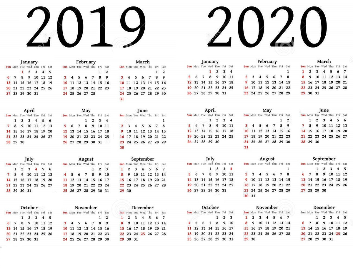2019 And 2020 Calendar Printable | Calendar Shelter pertaining to Printable Calendar 2019 2020 Write On