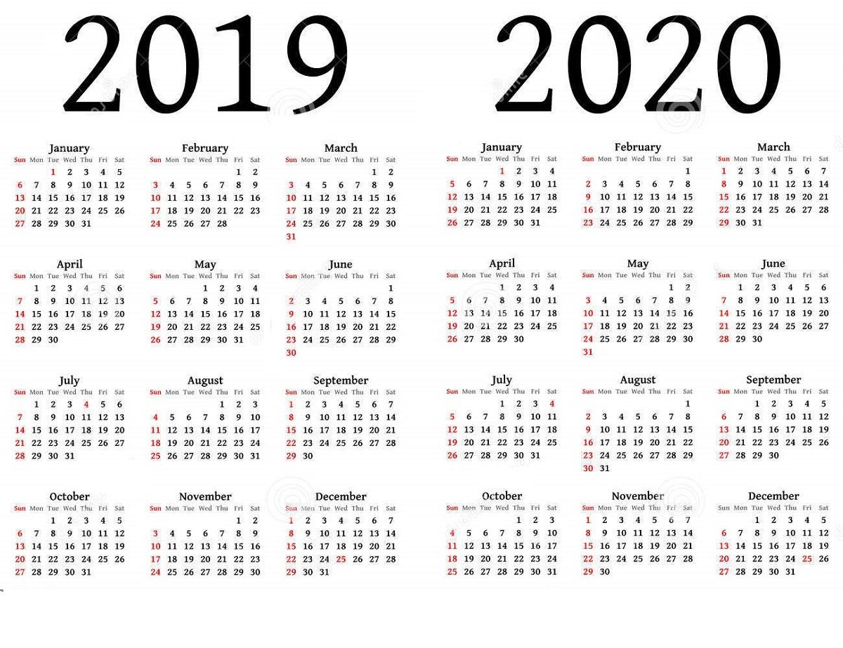 2019 And 2020 Calendar Printable | Calendar Shelter with regard to Free Fillable Printable 2019 2020 Calendar