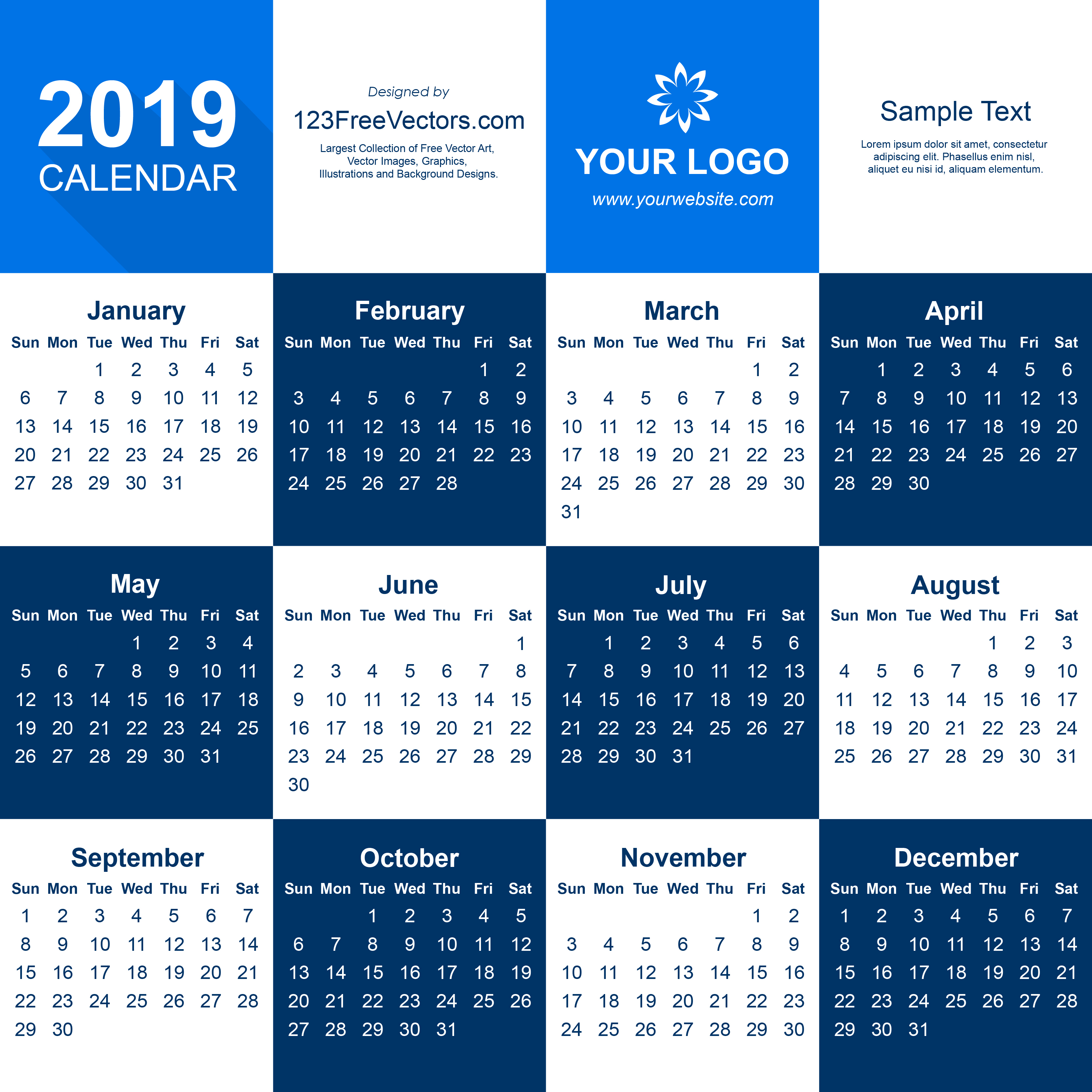 2019 Calendar Illustrator Template pertaining to Printable Free August Calendar Template With Clown