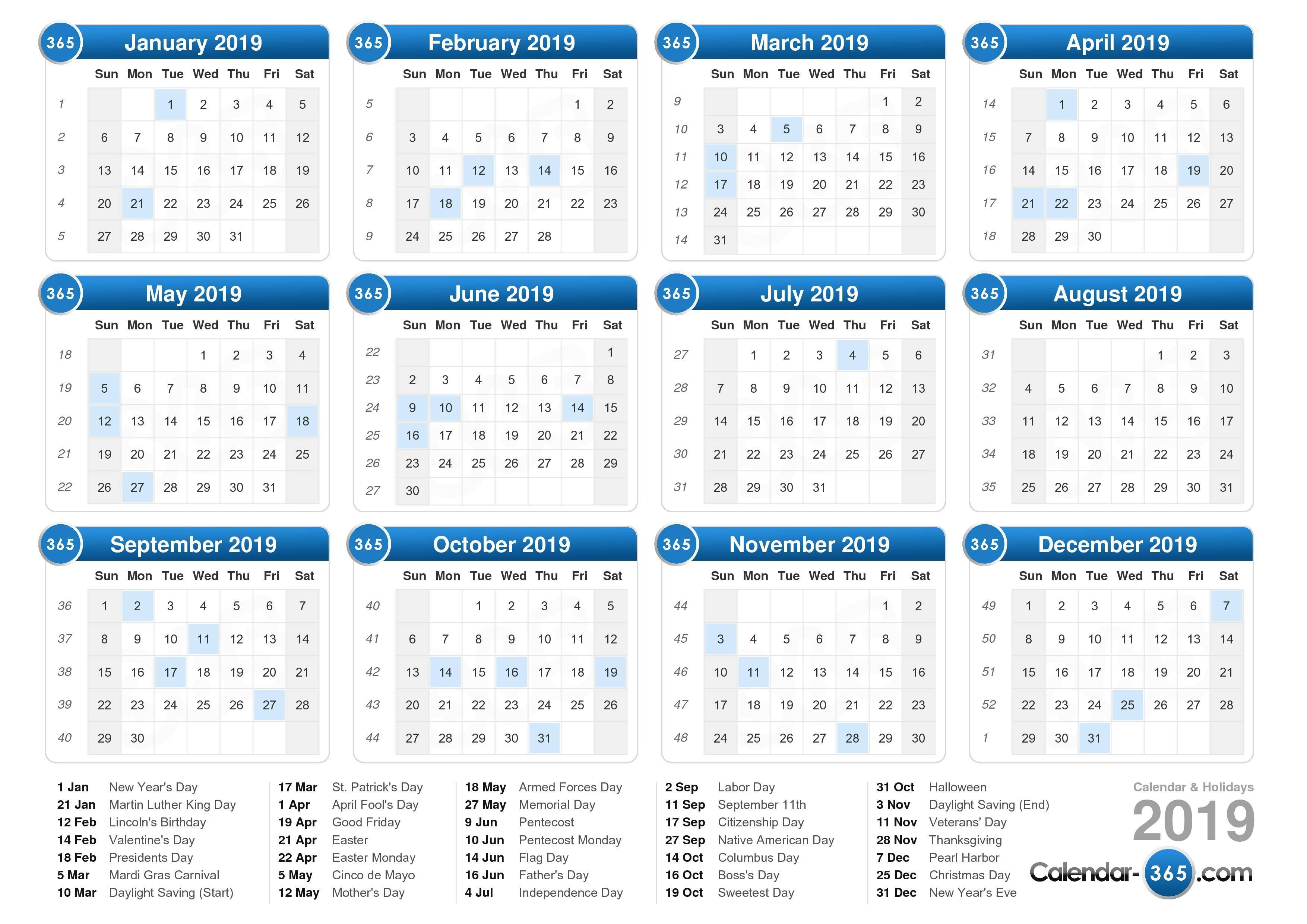 2019 Calendar inside 2019-2020 Calendar Financial Week Numbers