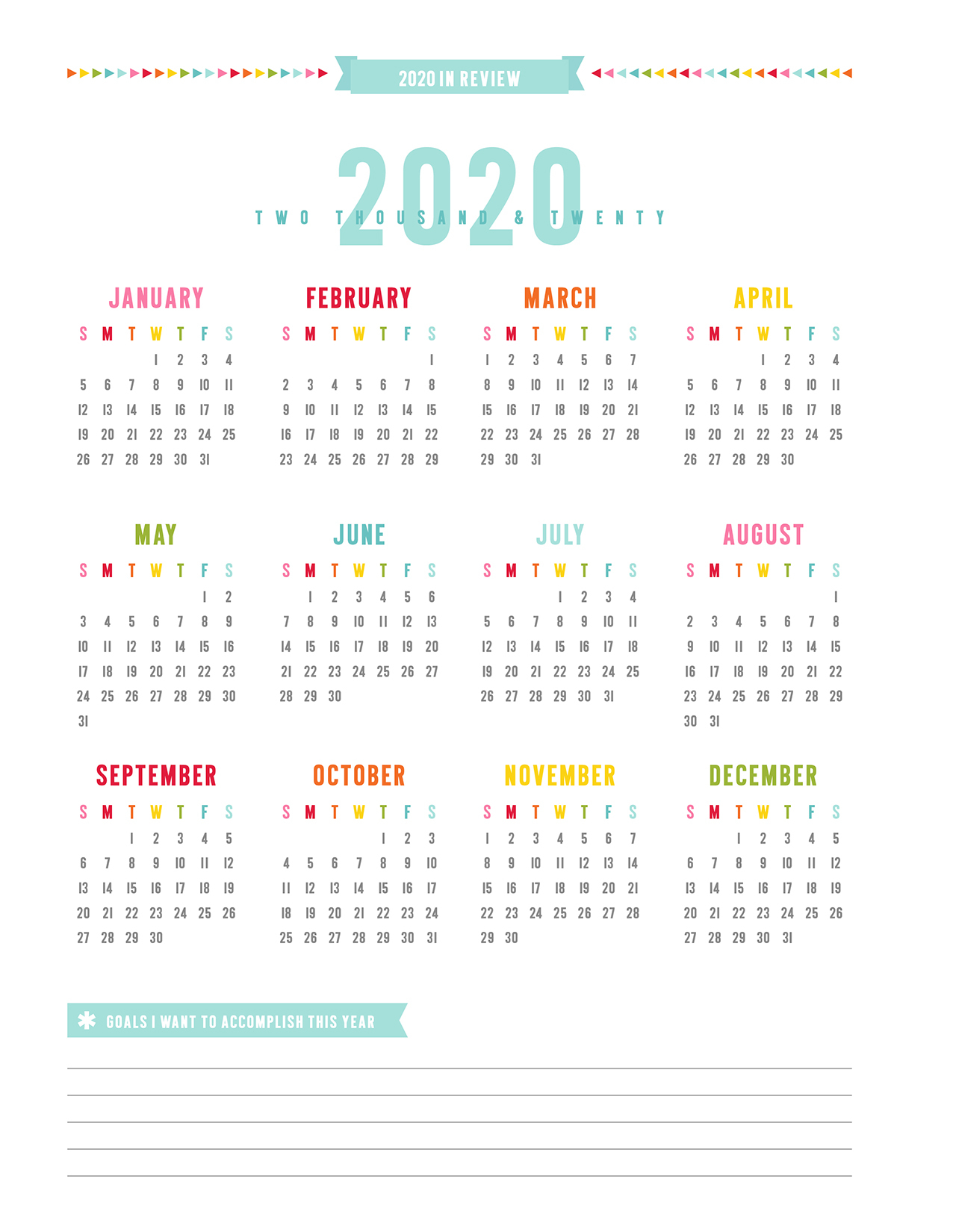2019 Everyday Planner | Misstiina inside Year At A Glance 2019 2020 Free