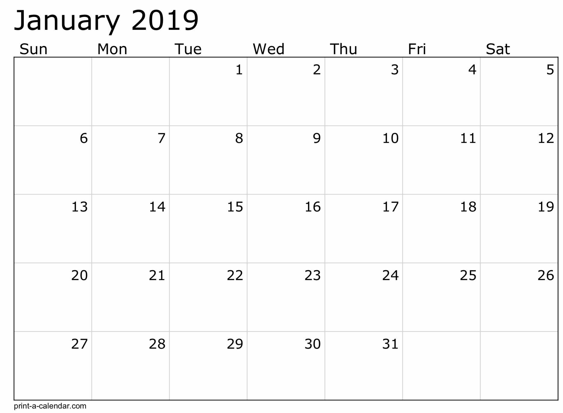 2019 Free Printable Calendar Templates - A Mother's Random Thoughts intended for Free Printable Calendar Templates 8 X 10