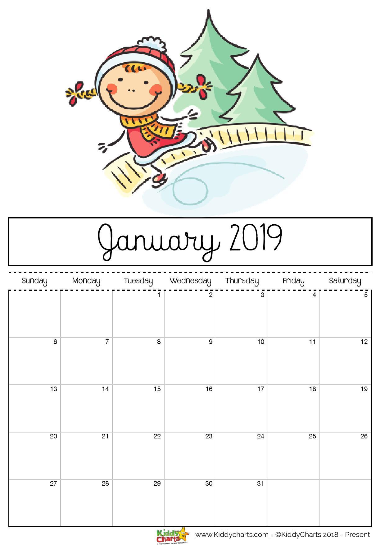 2019 Free Printable Calendars - Lolly Jane pertaining to Christmas Themed Calendar Templates