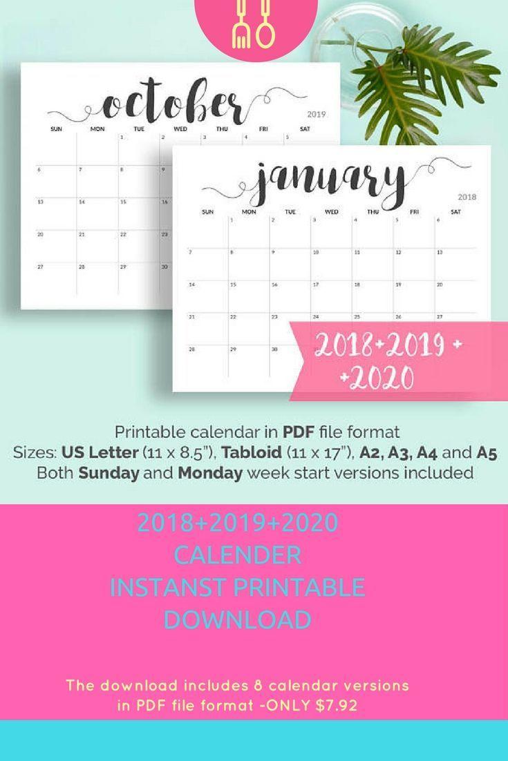 2019 Printable Calendar 2019-2020 Calendar Printable Large Calendar inside Printable Calendar 2019 2020 Write On