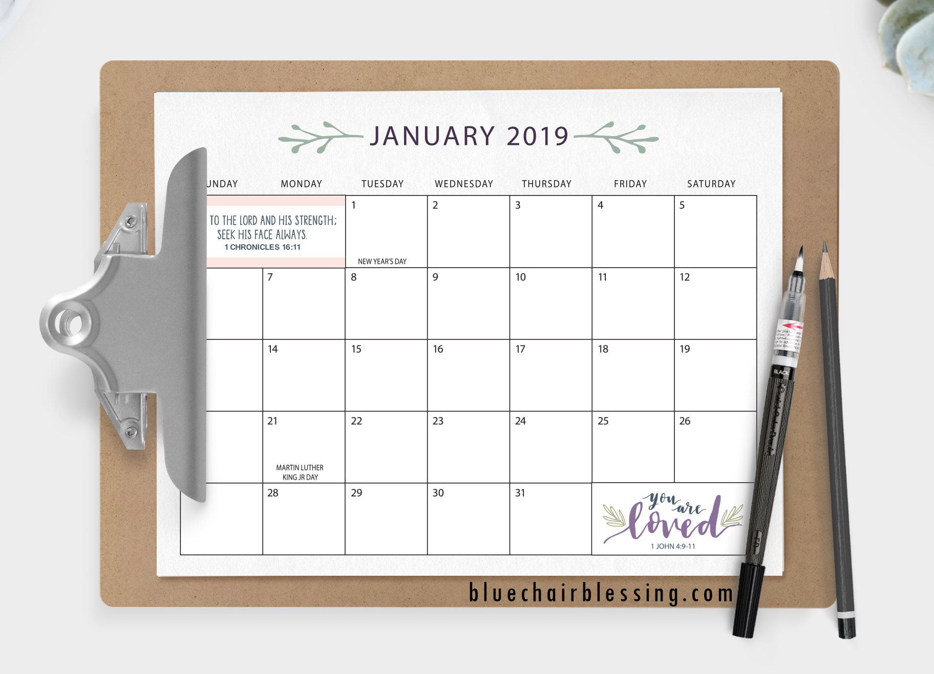 2019 Printable Calendar inside Null Blank Calendar To Print