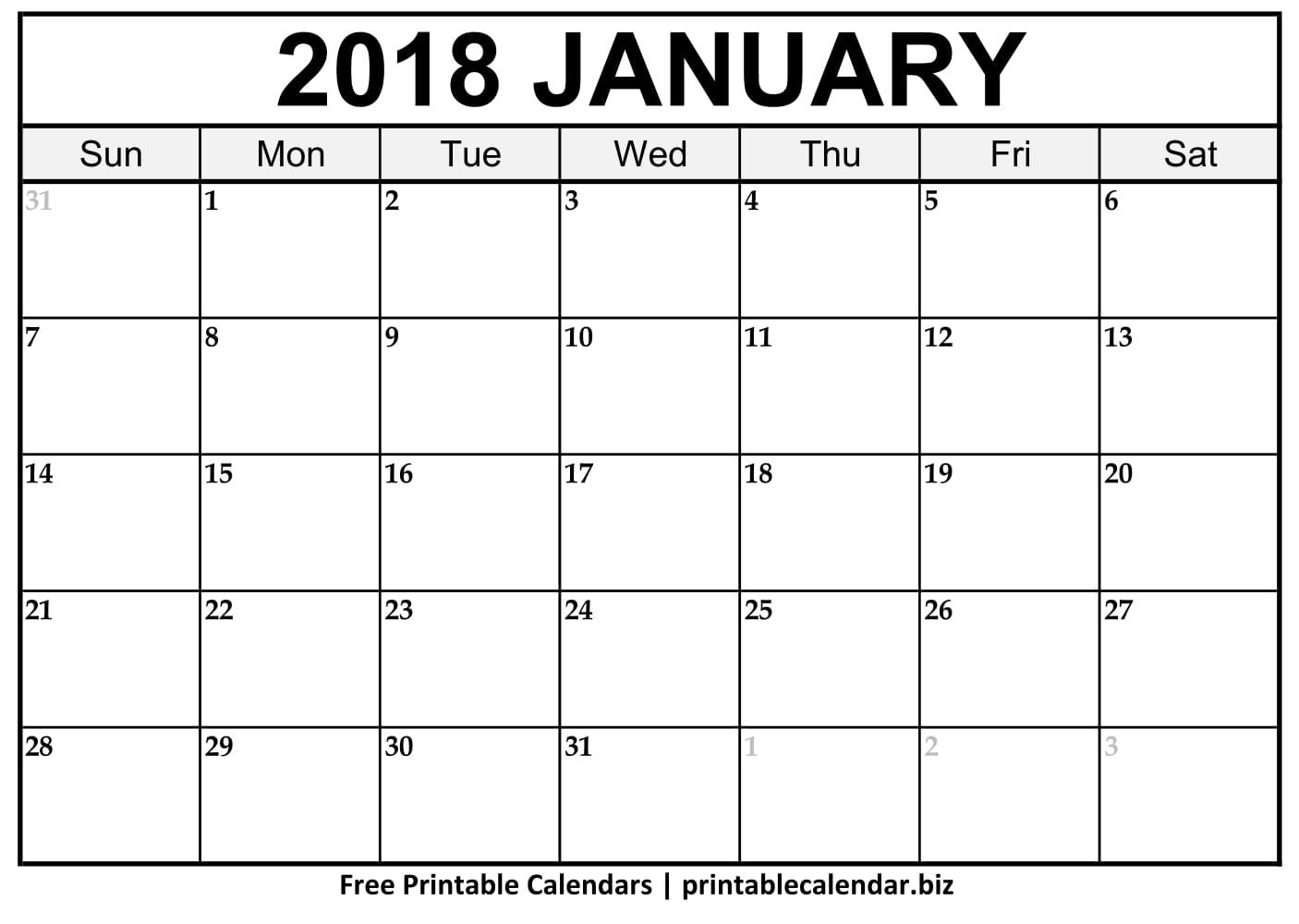 2019 Printable Calendar Templates - Printablecalendar.biz inside Free Blank Calendar Templates To Print