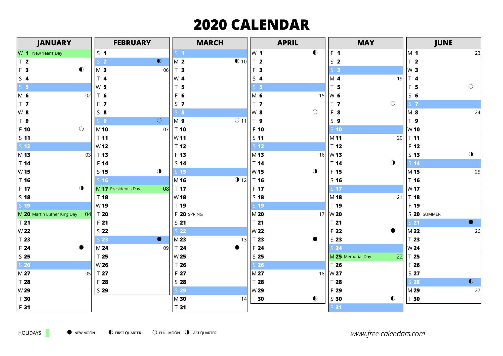 2020 Calendar ≡ Free-Calendars in 2020 Calendar With Week Numbers In Excel