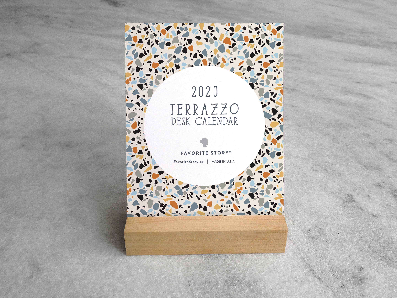 2020 Desk Calendar, Terrazzo | Desk Calendar 2020 | 2020 Calendar, Terrazzo regarding U Of R 2020 Calendar