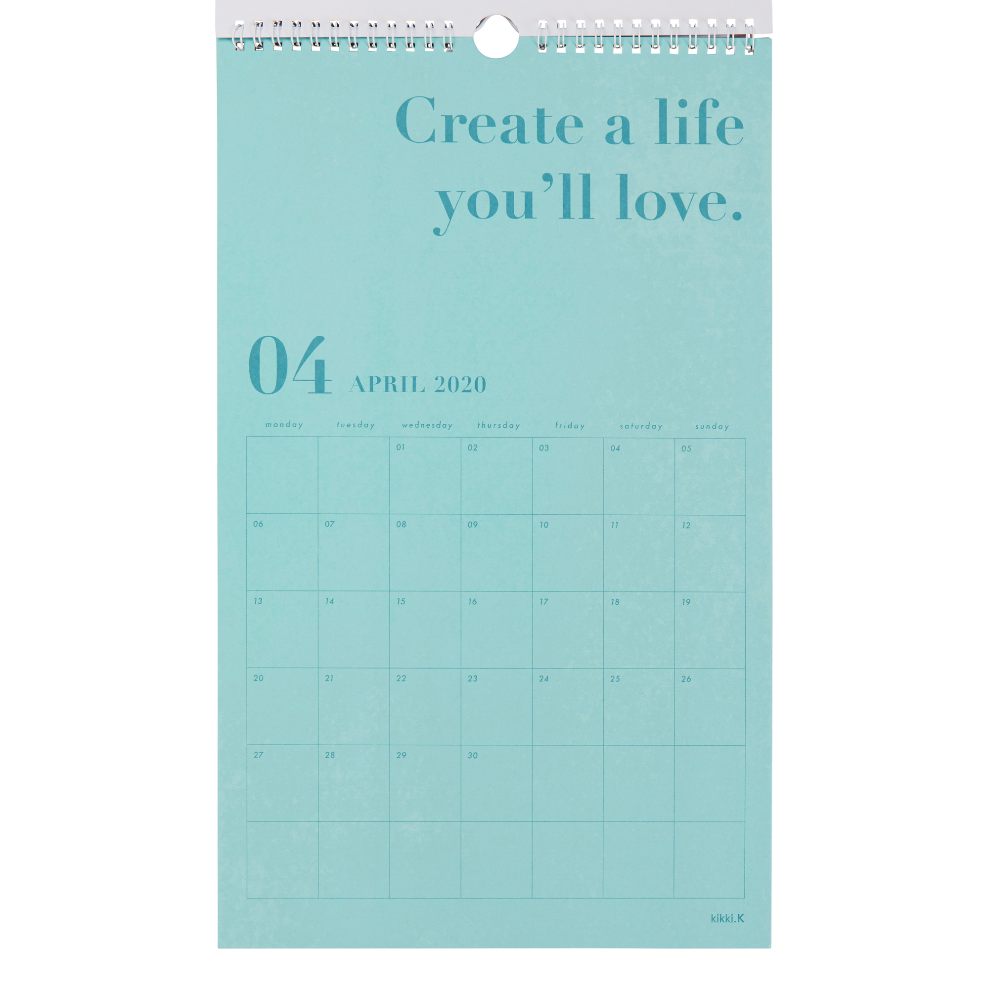 2020 Dream Life Wall Calendar White: Inspiration | Calendars | Kikki regarding 2020 Wall Calendar Kikki K