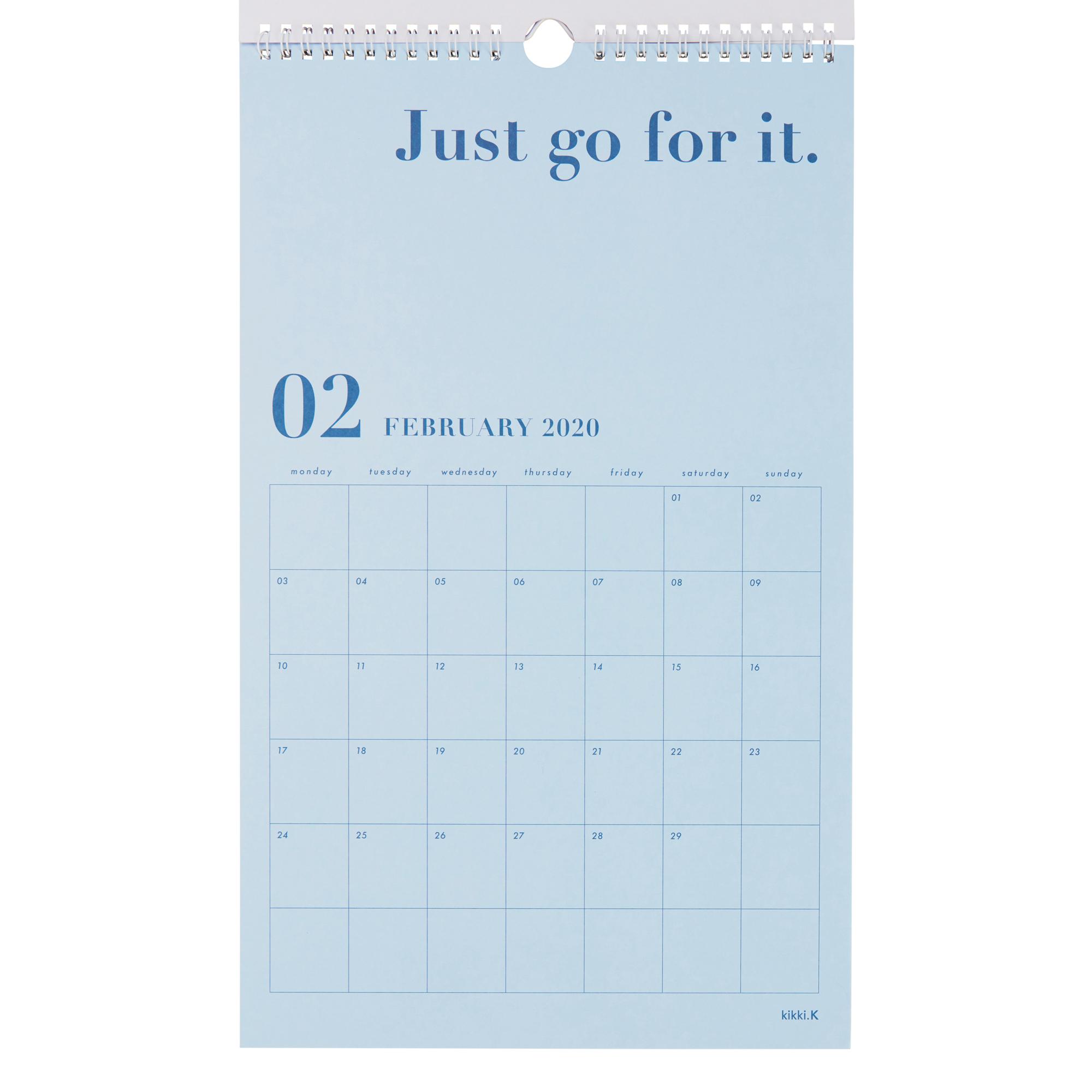 2020 Dream Life Wall Calendar White: Inspiration | Calendars | Kikki throughout 2020 Wall Calendar Kikki K