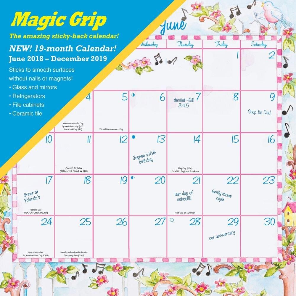2020 Joyful Seasons Magic Grip Wall Calendar,calendar Ink regarding Free Yearly 5.5 X 8.5 Calendar 2020