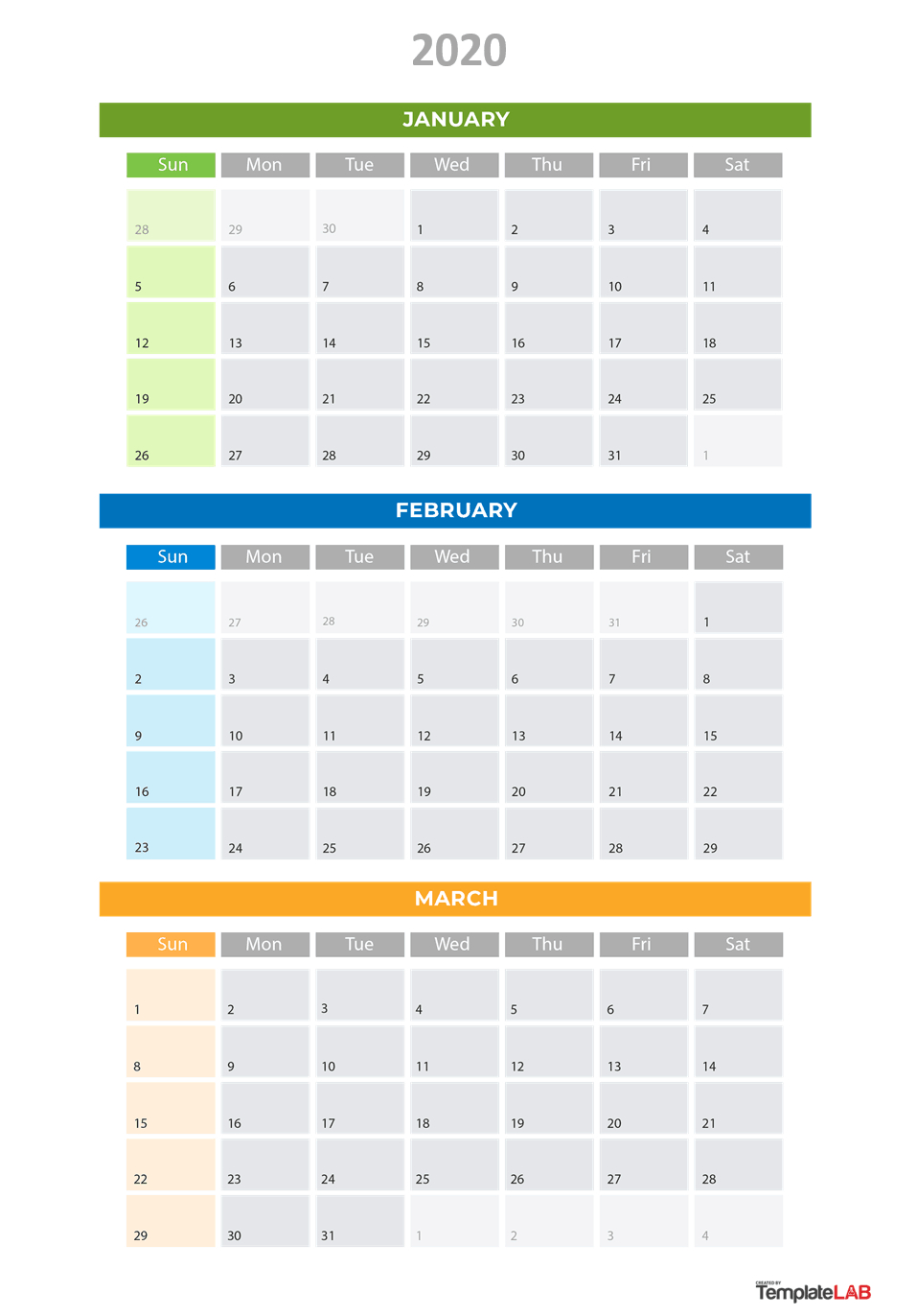 2020 Printable Calendars [Monthly, With Holidays, Yearly] ᐅ with 2020 Quarterly Calendar Printable Free