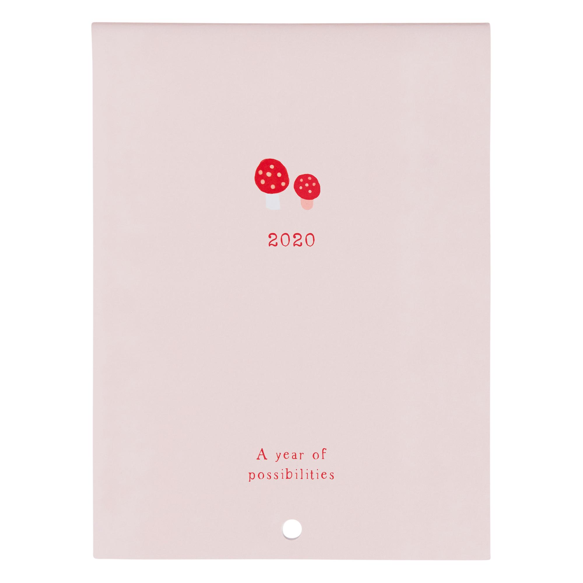 2020 Sweet Wall Calendar Pale Pink: Woodland throughout 2020 Wall Calendar Kikki K