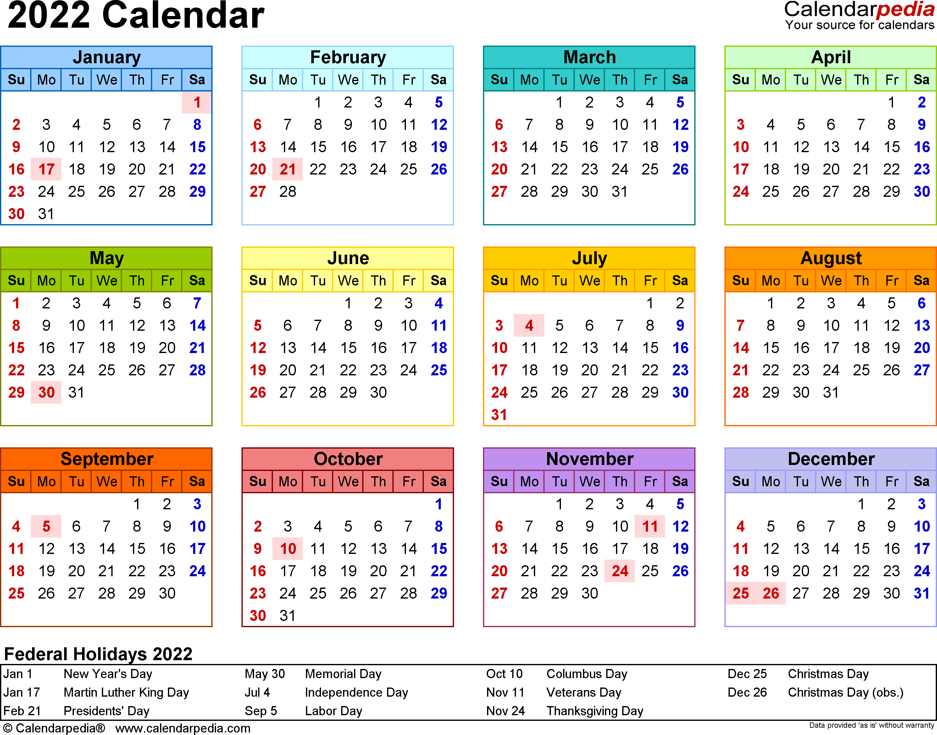 2022 Calendar - 17 Free Printable Word Calendar Templates regarding Blank Year Long Calendar 2022