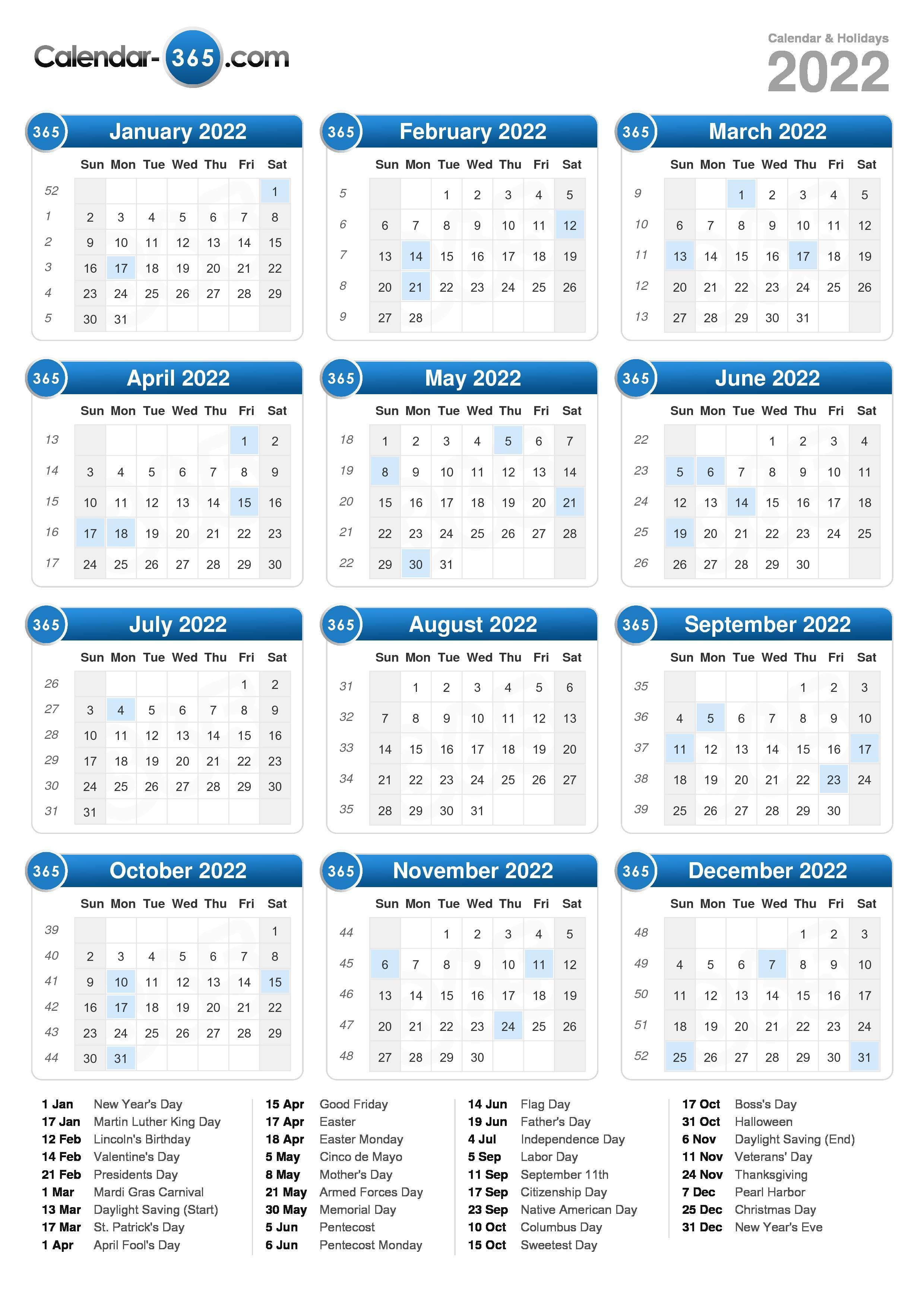 2022 Calendar with regard to Blank Year Long Calendar 2022