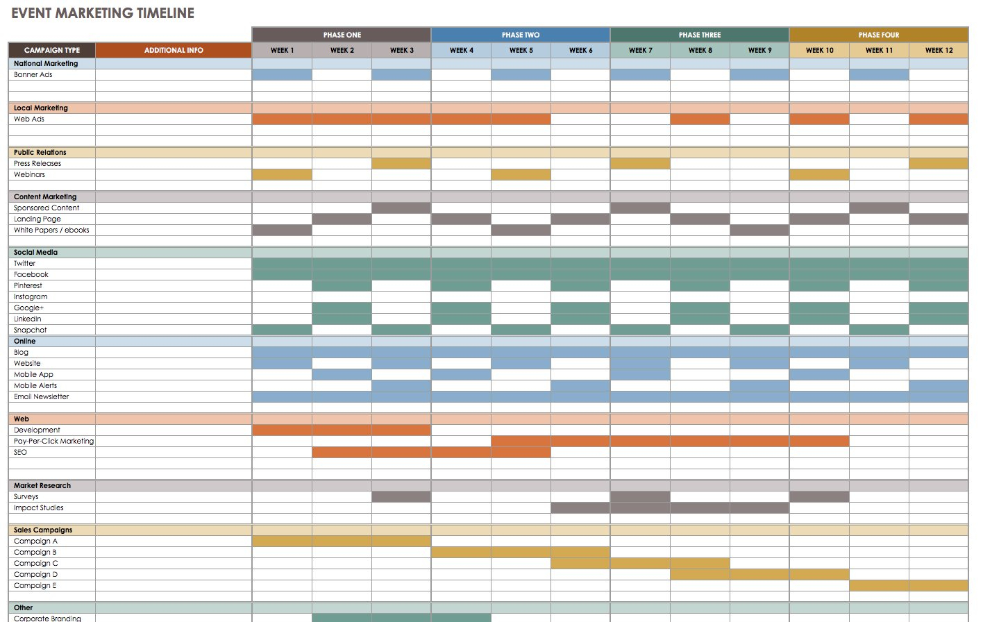 21 Free Event Planning Templates | Smartsheet within Calendar Of Events Template Free