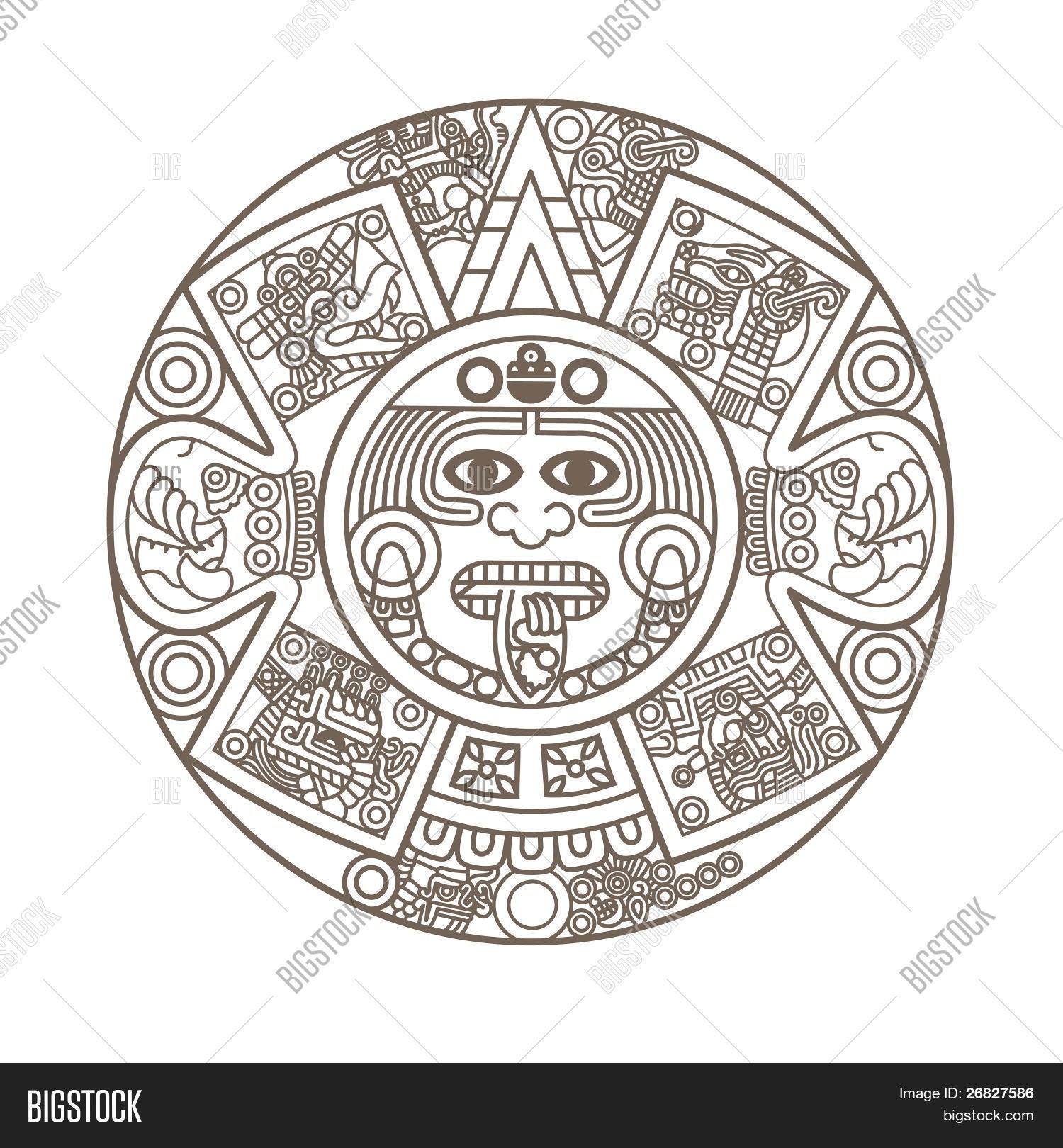 26827586 On How To Make An Aztec Calendar - Free Calendar Collection regarding Aztec Calendar Printable Template
