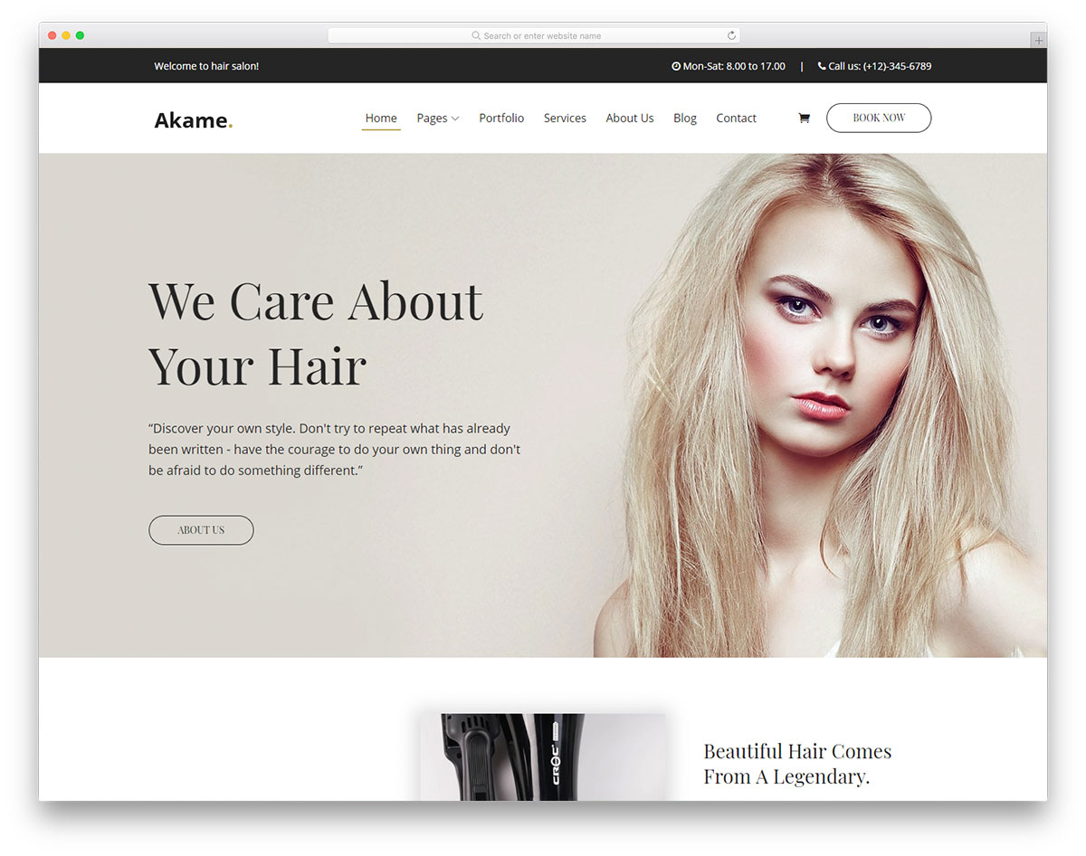 28 Free Hair Salon Website Templates To Properly Groom Your Website with regard to Hair Appointment Schedule Template