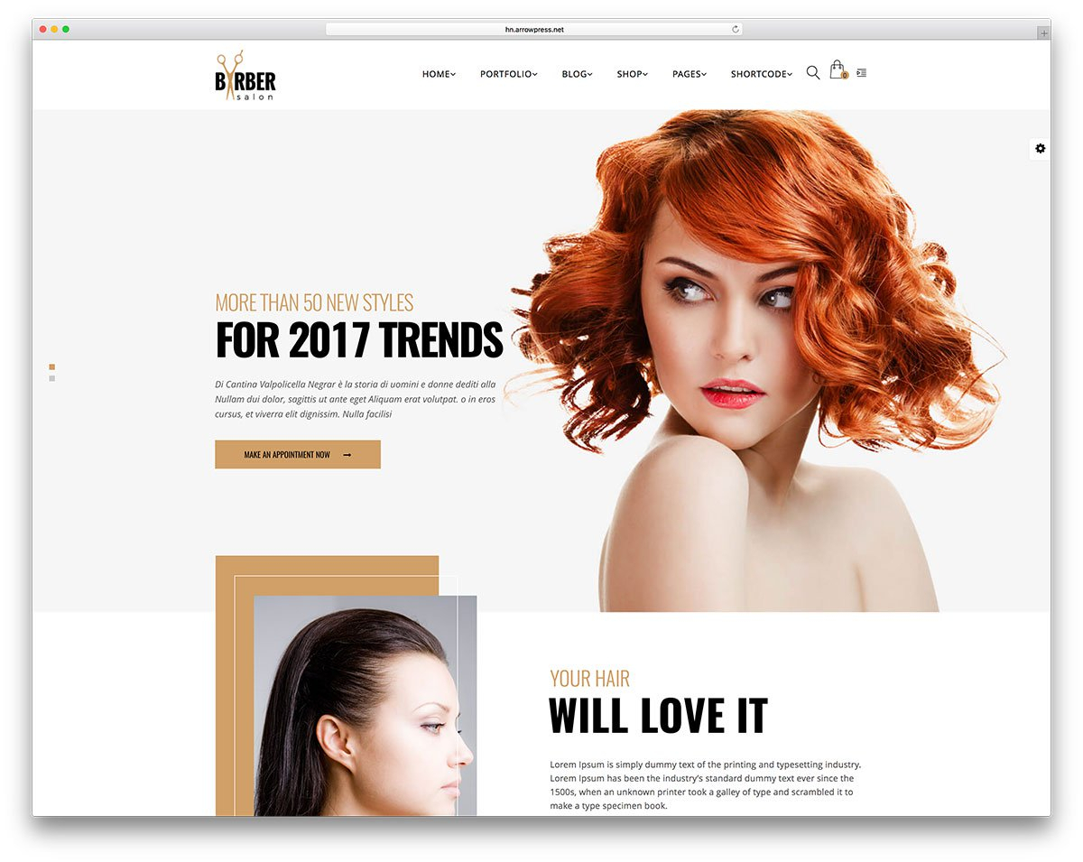 28 Hair Salon And Barber Shop WordPress Themes 2019 - Colorlib for Hair Appointment Schedule Template
