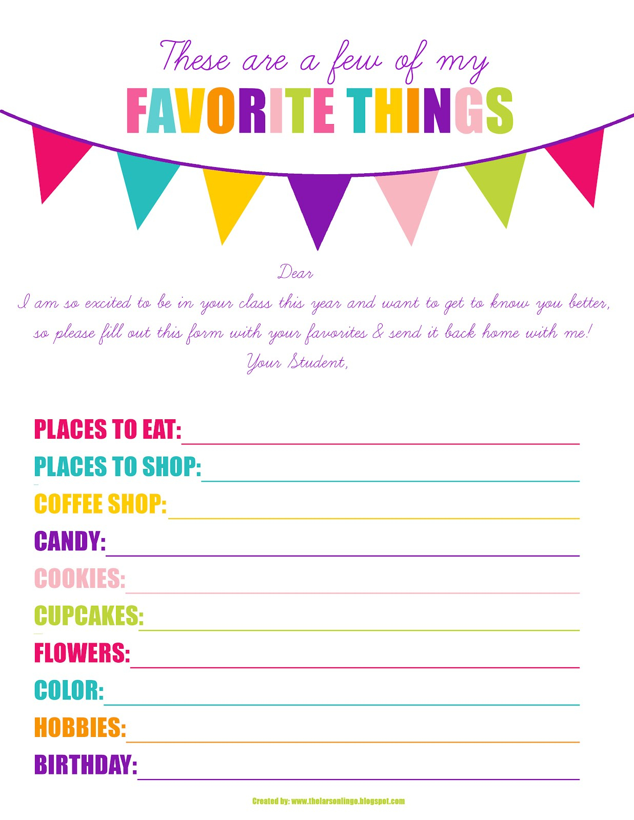 29 Images Of My Favorite Things Template | Helmettown with regard to A Few Of My Favorite Things Template