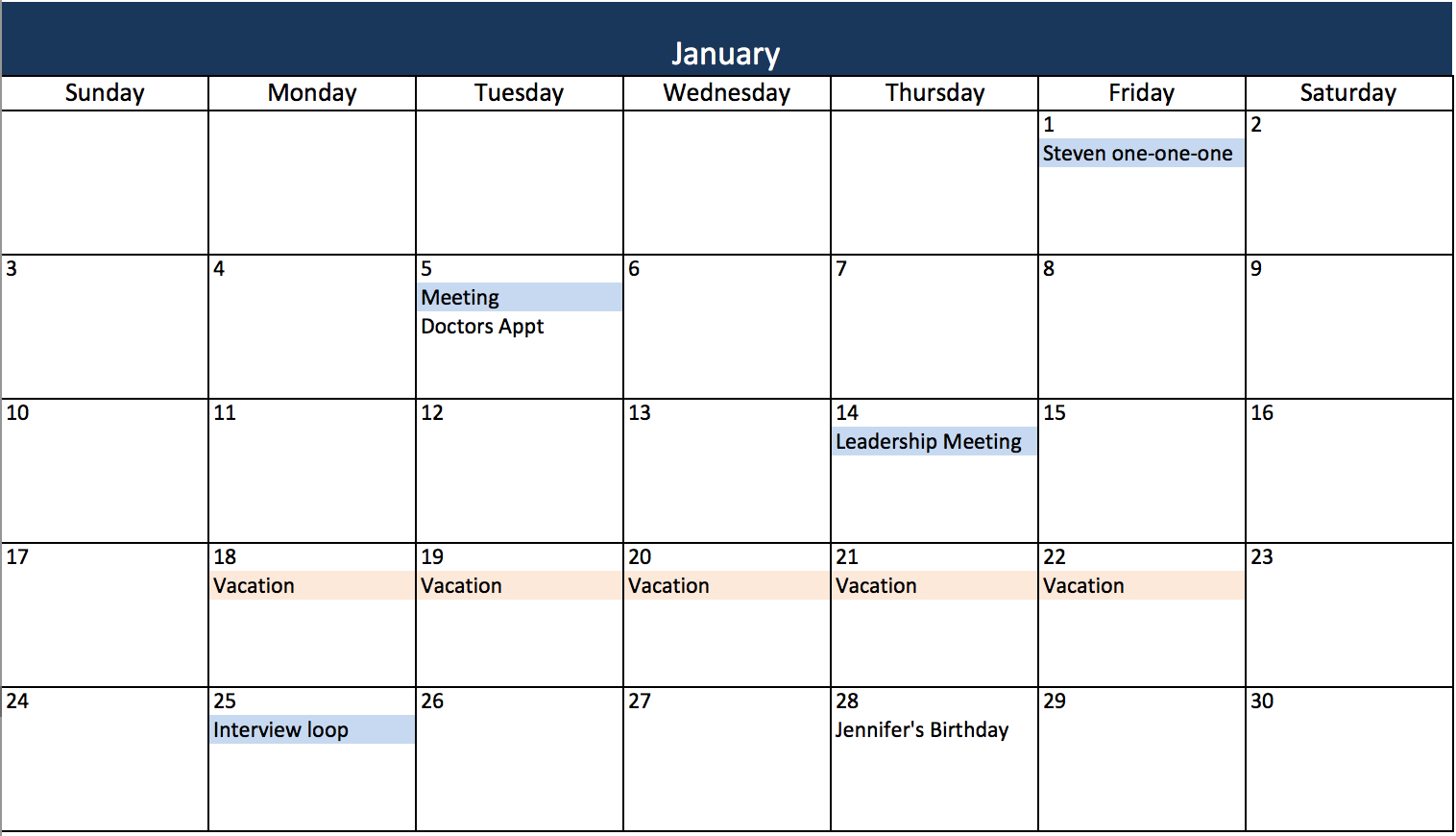 3 Ways To Create Your Project Manager Calendar regarding Monthly Calendar Excel Template Free
