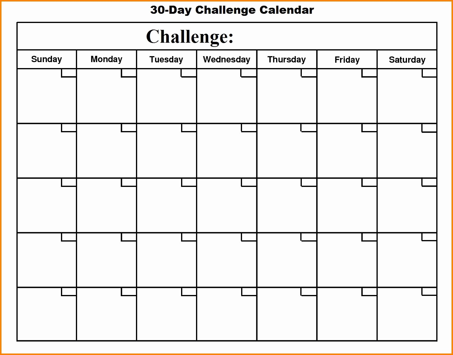 30 Day Calendar Template | Mathosproject regarding 60 Days Challenge Template Calender