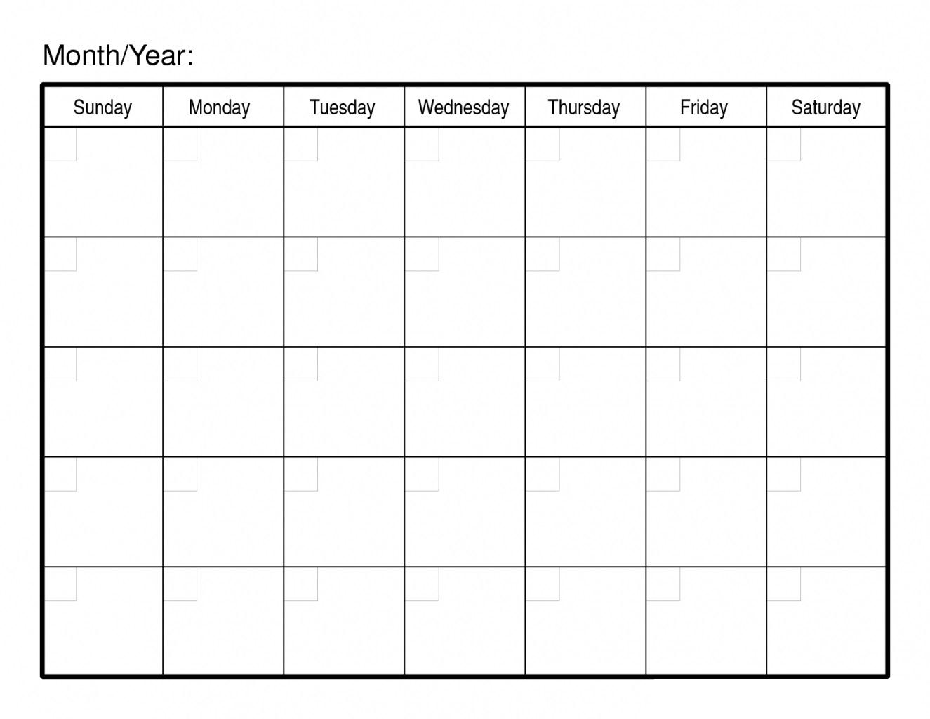 30 Day Free Blank Calendar Printable Template | Free Printable in Blank 30 Day Month Calendar