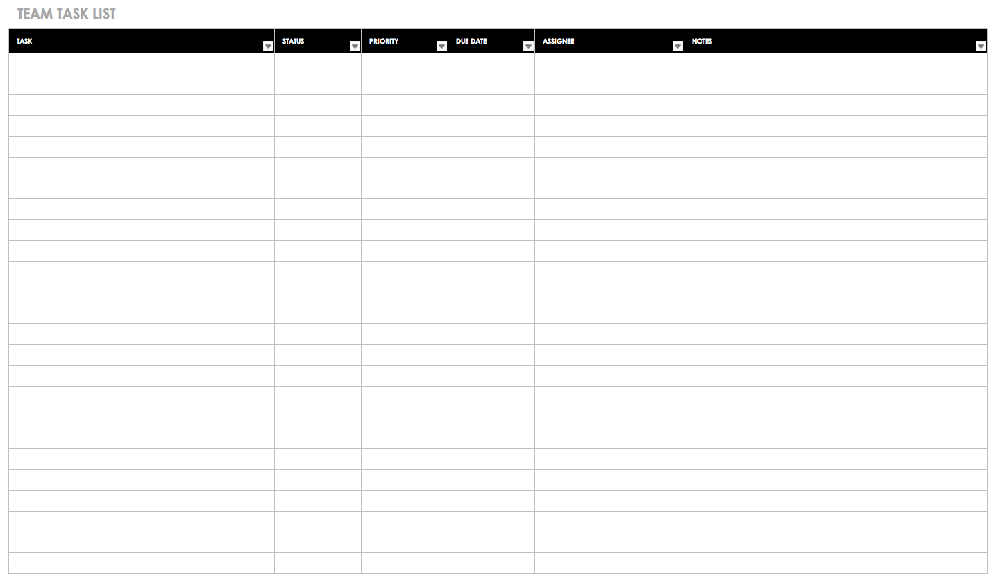 30+ Free Task And Checklist Templates | Smartsheet with 30 Day Workout Calendar Template