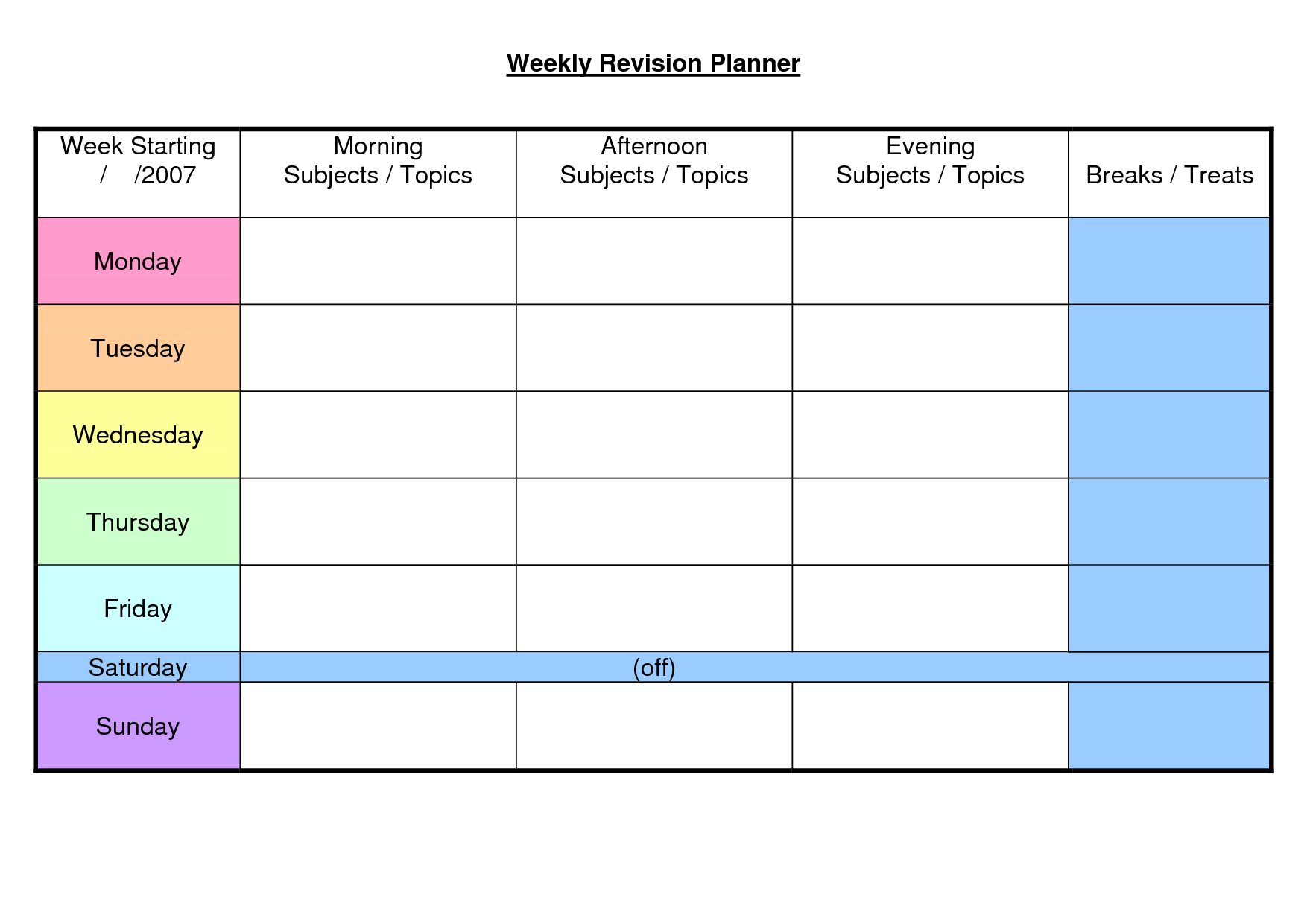 37+ Weekly Planner Template - Schedule, Meal & Others - Word, Excel! within Weekly Planner Template For Students
