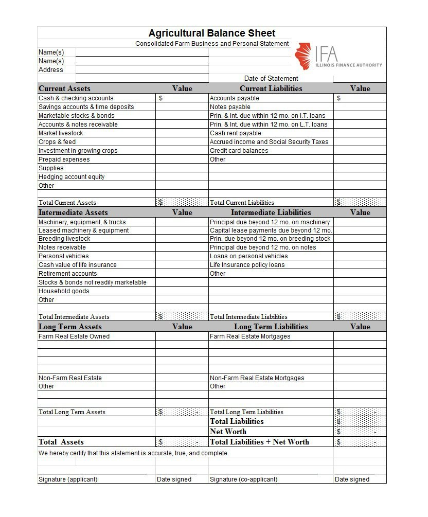 38 Free Balance Sheet Templates & Examples ᐅ Template Lab pertaining to Mothly Bill Payment Balance Sheet Blank