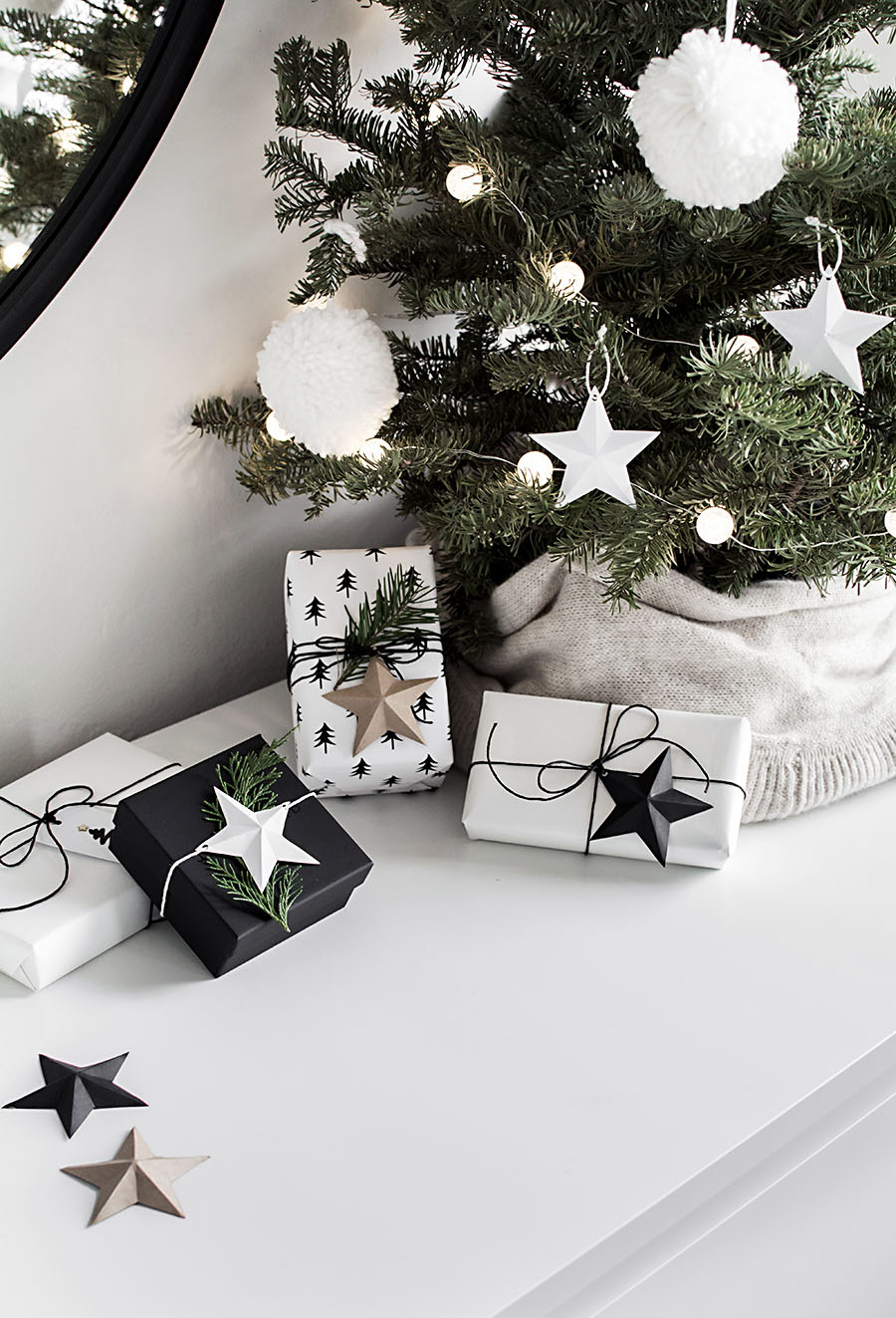 3D Paper Stars Printable - Homey Oh My within Printable Christmas Tree Templates 3D