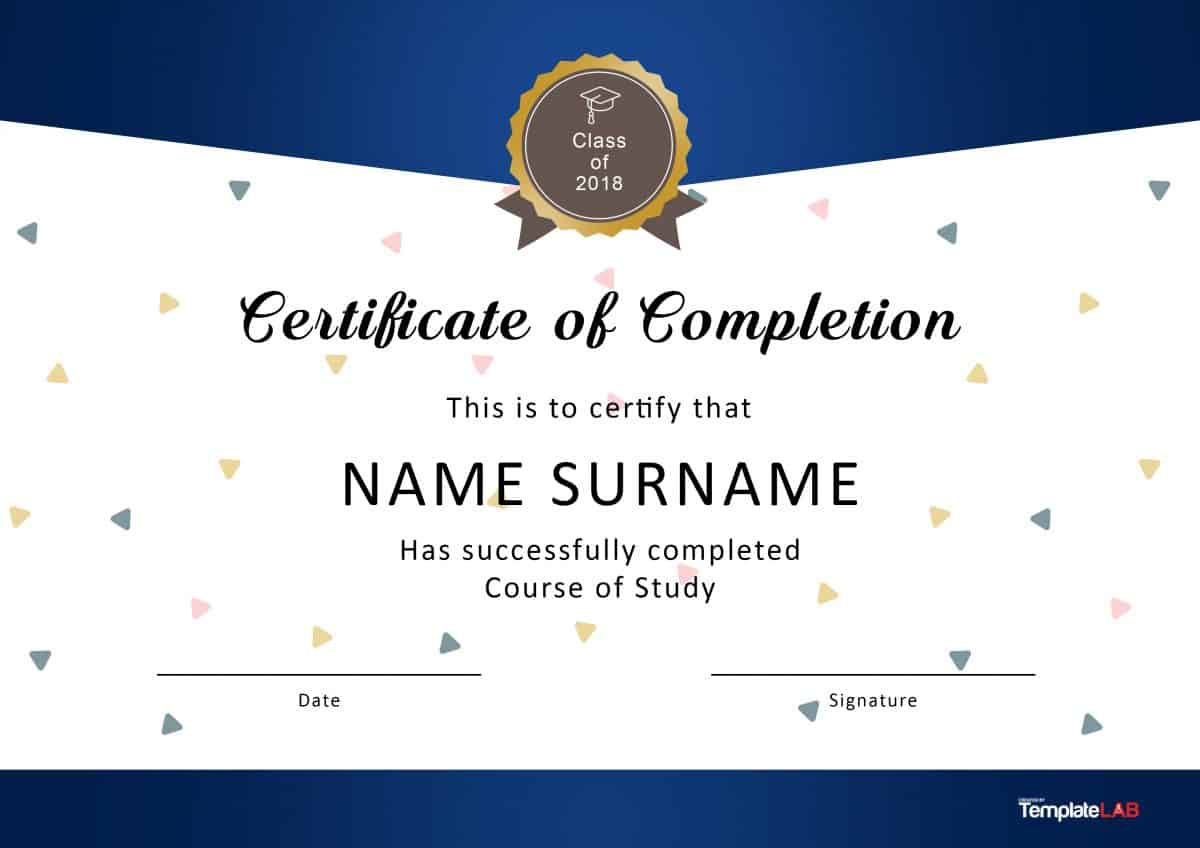 40 Fantastic Certificate Of Completion Templates [Word, Powerpoint] pertaining to Powerpoint Blank Template For Kids Free Download