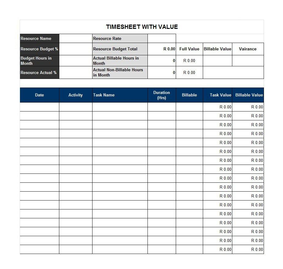 40 Free Timesheet / Time Card Templates ᐅ Template Lab for 7-Day Work Schedule Template Printable