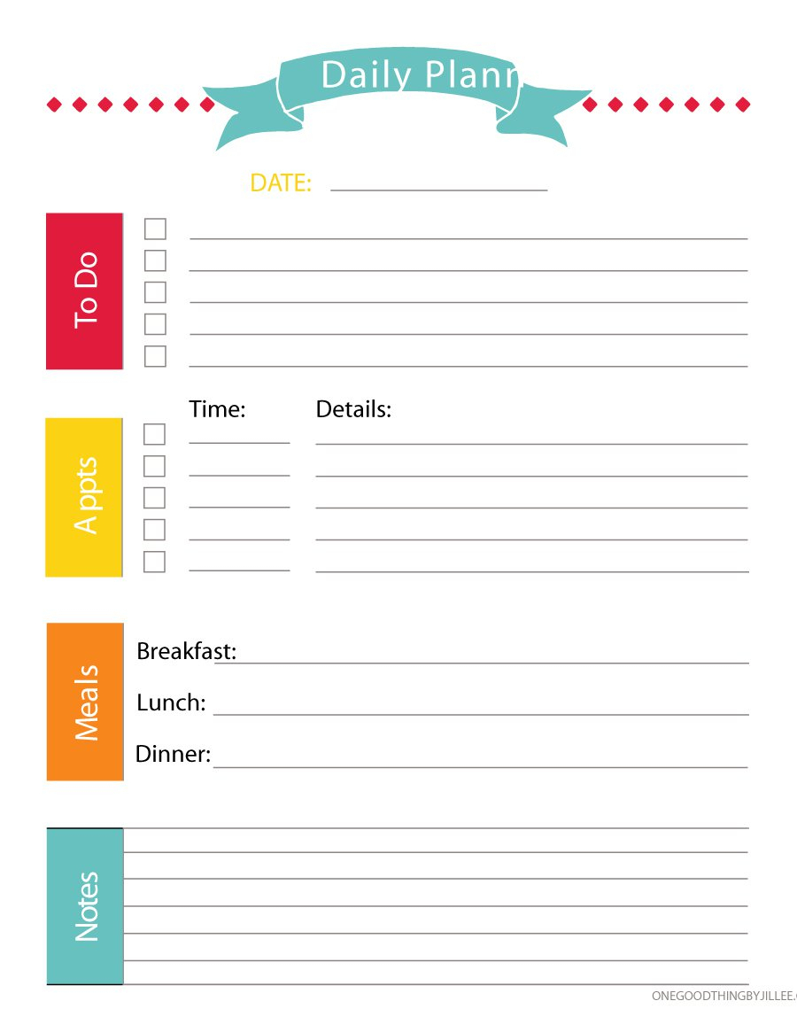 40+ Printable Daily Planner Templates (Free) ᐅ Template Lab with Printable Daily Planner Template