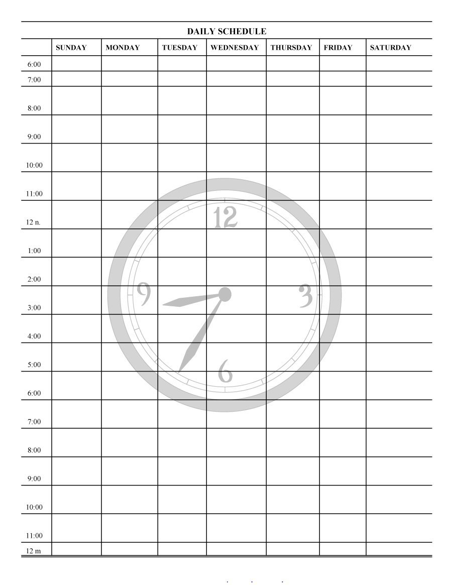 40+ Printable Daily Planner Templates (Free) ᐅ Template Lab with regard to 5 Day Work Schedule Template