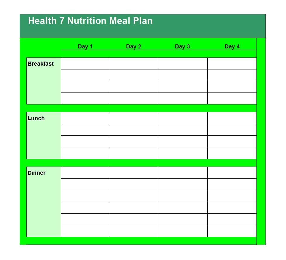 40+ Weekly Meal Planning Templates ᐅ Template Lab regarding 1 Week Menu Calendar Template