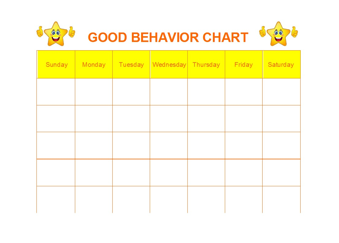 42 Printable Behavior Chart Templates [For Kids] ᐅ Template Lab regarding Free Printable Behavior Chart Templates