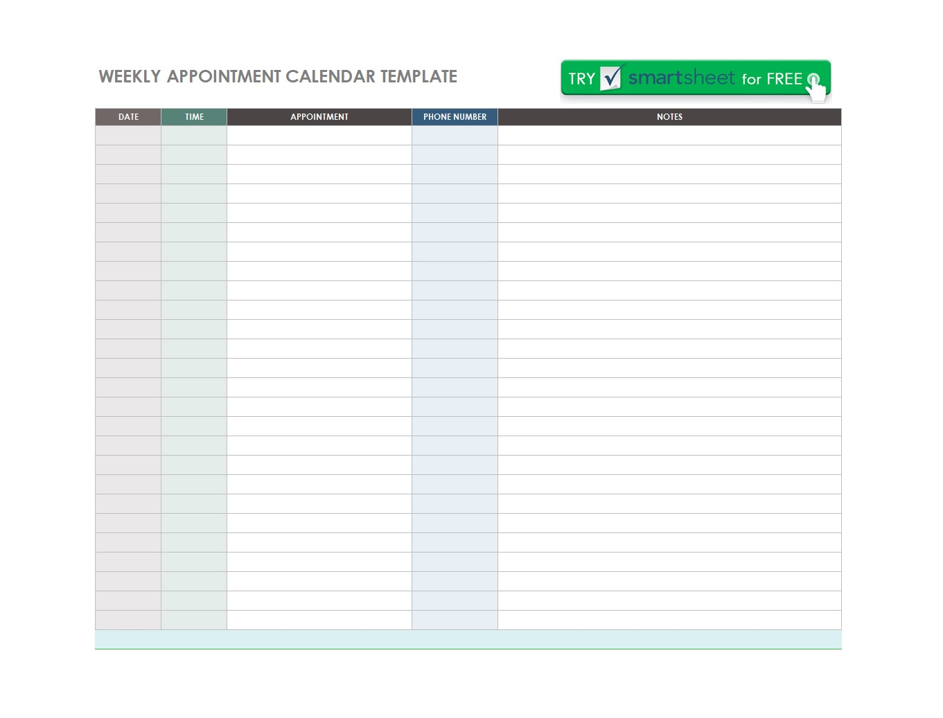45 Printable Appointment Schedule Templates [& Appointment Calendars] in Free Appointment Calendar Template