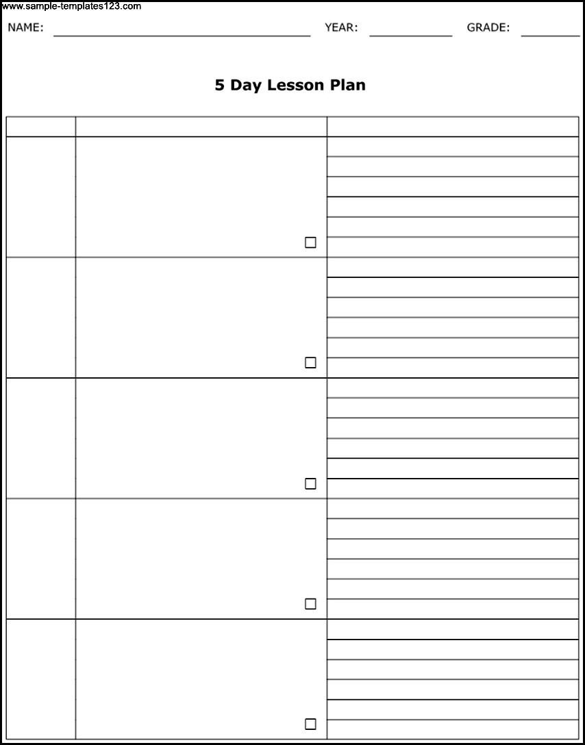 5 Day Calendar Printable Free | Blank Calendar Template Free 5 Day in 5 Day Blank Calendar Template