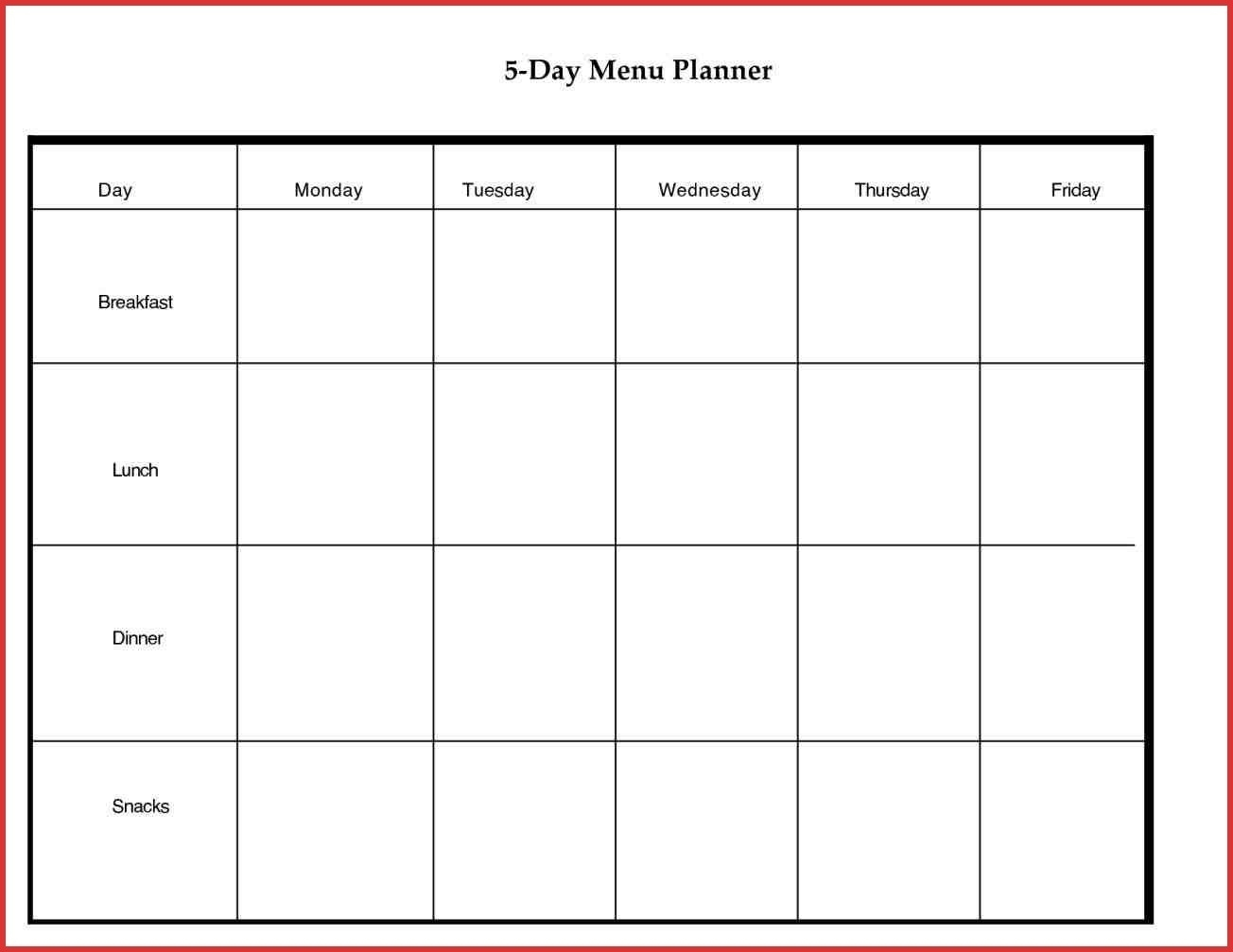 5 Day Monthly Calendar Free • Printable Blank Calendar Template intended for 5 Day Week Monthly Calendar Templates
