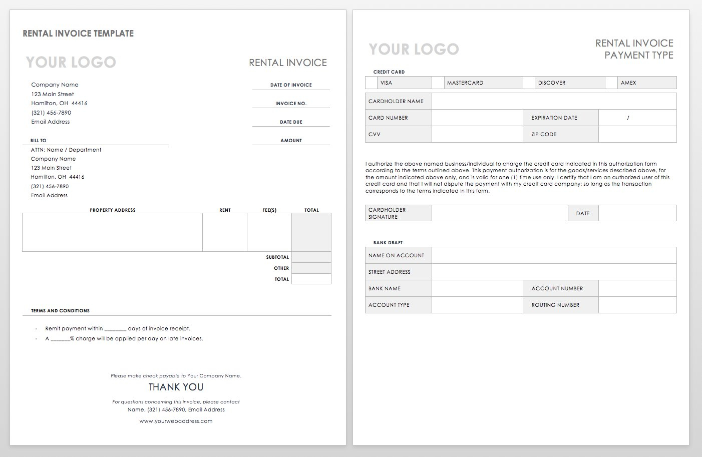 55 Free Invoice Templates | Smartsheet for Free Printable Blank Templates For Paid And Owed