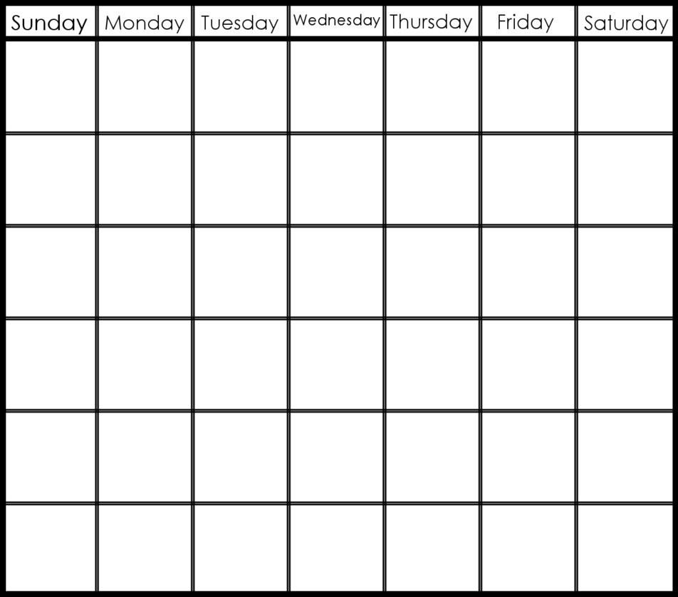 6 Week Blank Calendar Template – Get Your Calendar Printable in 6 Week Printable Blank Calendar