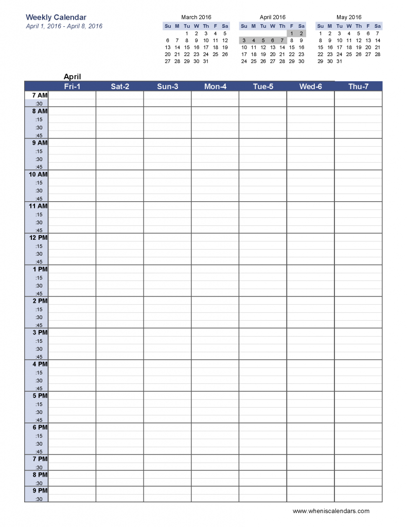 6 Week Blank Schedule Template Weekly Calendar Template Pdf Social regarding One Week Calendar Template Printable