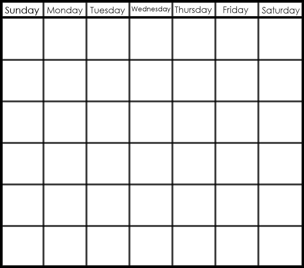 6 Week Printable Calendar   Printable Calendar Templates 2019-6 Week with regard to Blank 6 Week Calendar Template