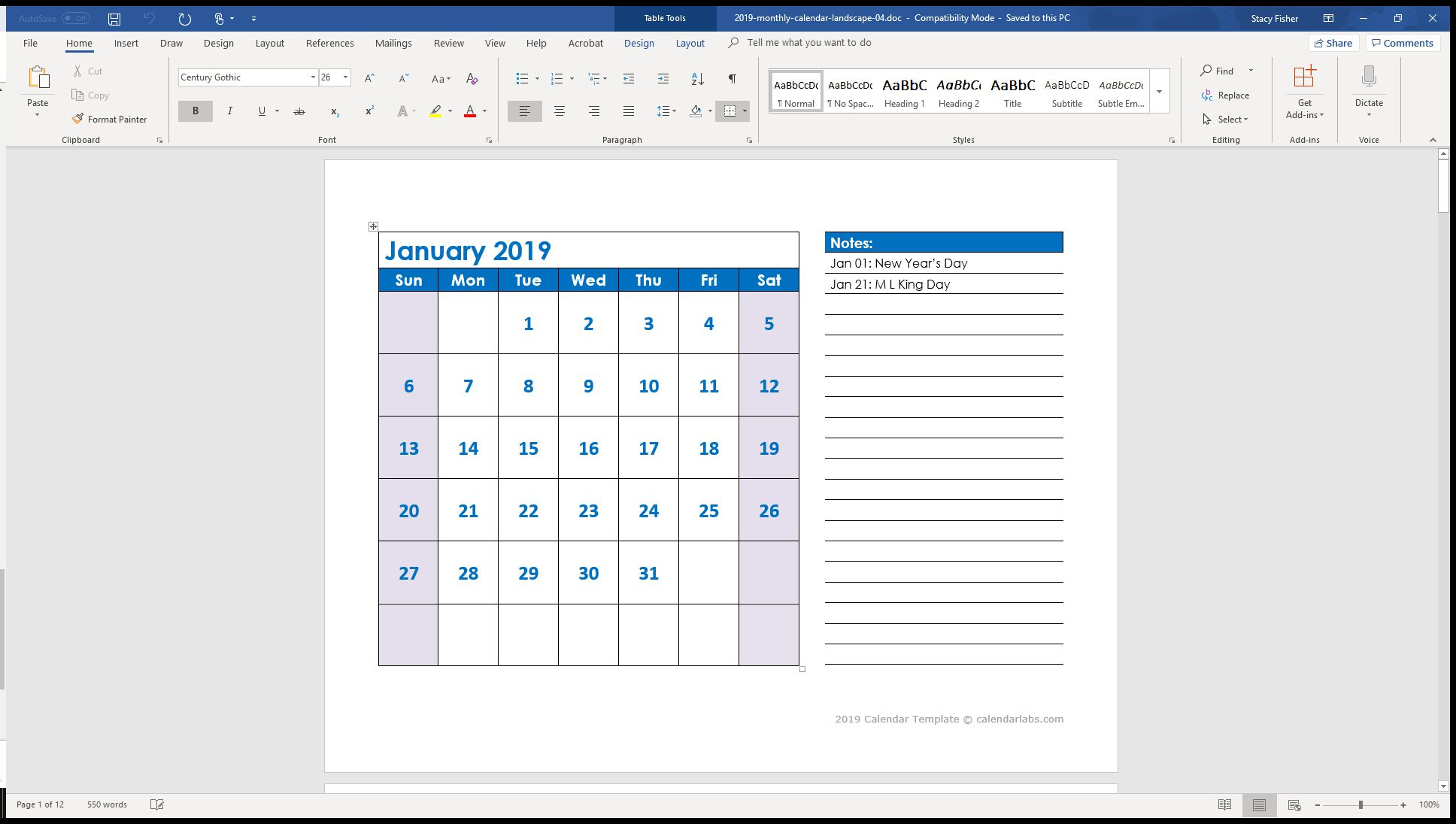 7 Top Place To Find Free Calendar Templates For Word in Monthly Calendar Template Kids