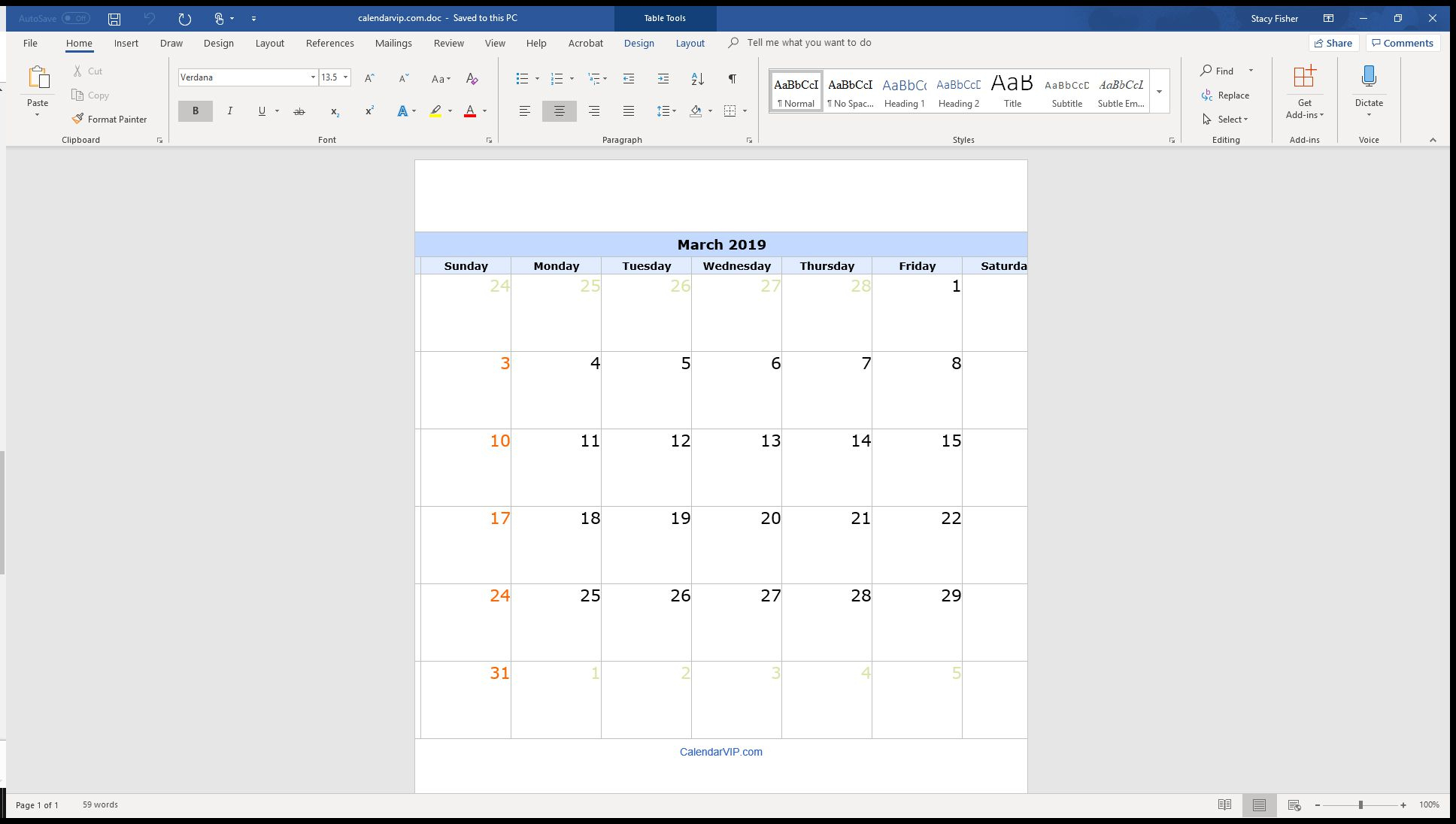 7 Top Place To Find Free Calendar Templates For Word with August Fun Calendar Template