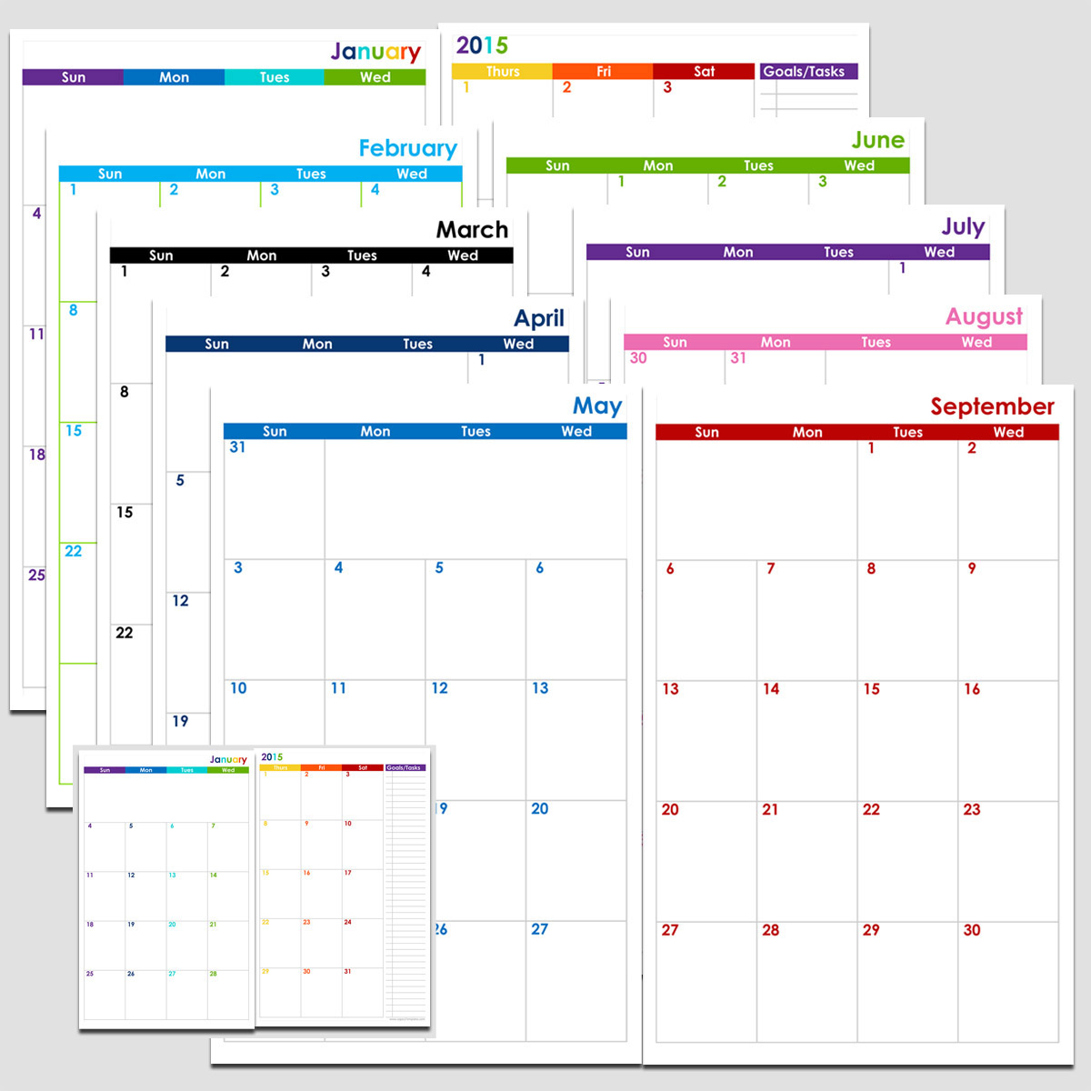 72-Months 2-Page Calendar (6 Years) - Half Size | Legacy Templates within Free Yearly 5.5 X 8.5 Calendar 2020
