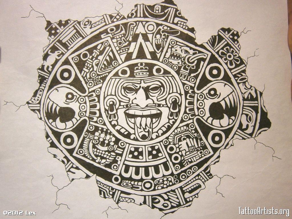 75+] Aztec Calendar Wallpaper On Wallpapersafari with Aztec Calendar Printable Template